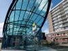 Toegang tot metrostation Parkweg in Schiedam