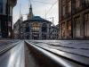 De Snoeptrommel in Den Haag, gezien vanaf de tramrails