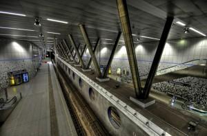 Metrostation Wilhelminaplein in Rotterdam