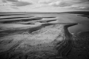 Stony Binks bij Spurn Point in Engeland