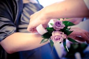 Bloemen horen bij een trouwerij