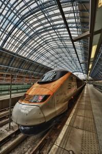 Eurostar op St. Pancras in Londen