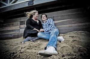 Verlovingsshoot op het strand van Noordwijk