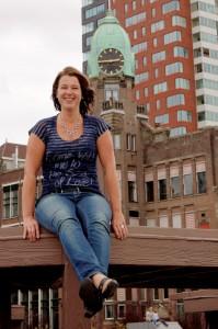 Fotoshoot met Rotterdam als backdrop