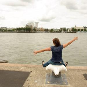 Fotoshoot op de Wilhelminapier in Rotterdam