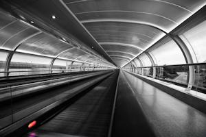 HDR in zwart/wit (Manchester Airport, Engeland)