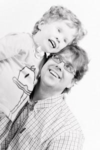 Noah met zijn vader Thijs