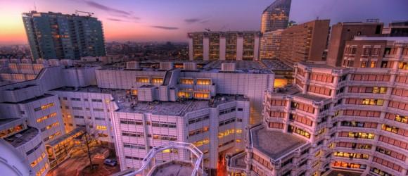 Uitzicht op Den Haag in de morgen