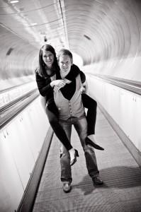 Fotoshoot in de Rotterdamse metro