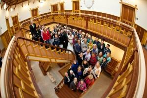 Groepsfoto in het stadhuis van Baarn