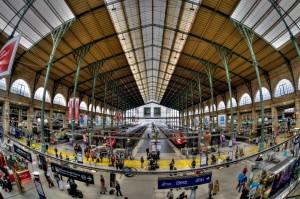 Gare du Nord, het aankomststation van de Thalys in Parijs