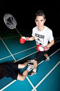 Erik Meijs slaat je -figuurlijk dan- knock-out bij badminton