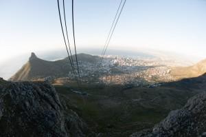 Lift van en naar de Tafelberg in Kaapstad