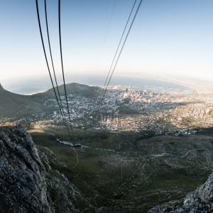 Met de lift naar beneden vanaf de Tafelberg in Kaapstad