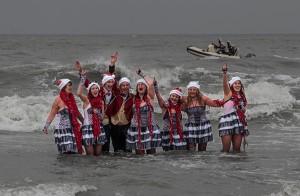 Nieuwjaarsduik 2015 Scheveningen