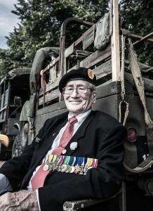 Oorlogsveteraan op Veteranendag 2015 te Den Haag