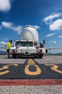 Pushback van een Ryanair toestel op Bergamo airport