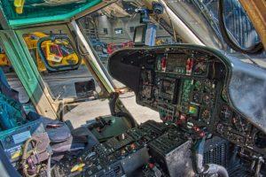 dashboard van een SAR helicopter