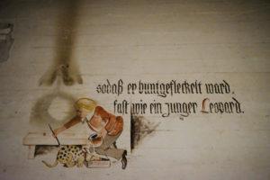 Cartoons op de bunkermuren van Tempelhof