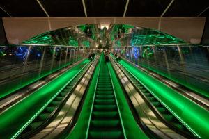 Metrostation bij de Universiteit van Helsinki