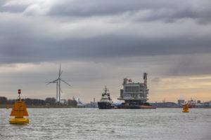 Stopcontact windmolenpark op zee