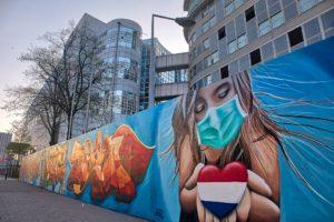 Corona street art Den Haag